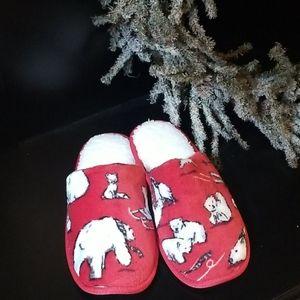 Vera Bradley Cozy Fleece Slippers
